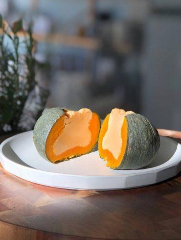 Thai desserts pumpkin custard