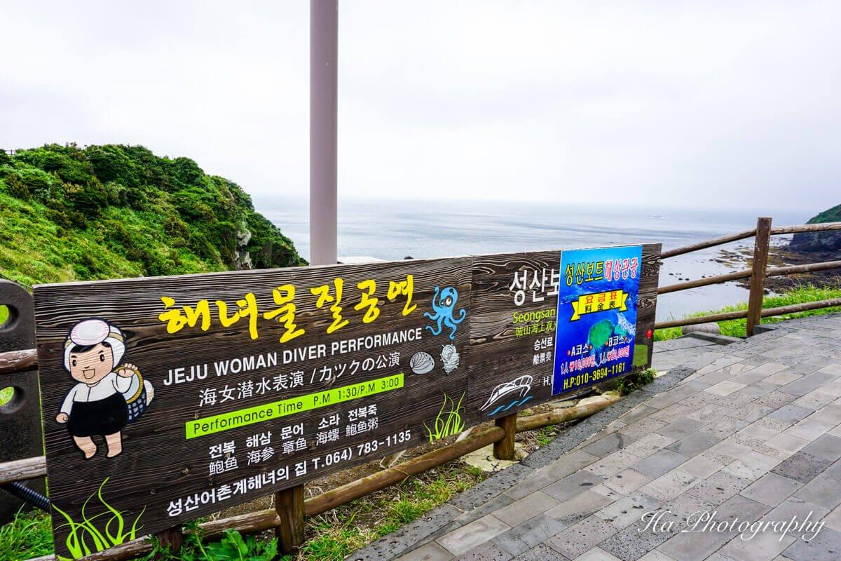 Jeju woman diver show