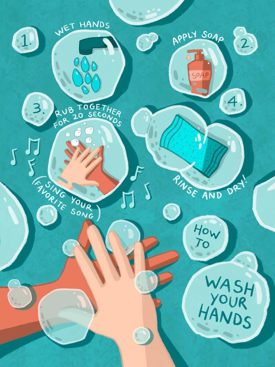 wash hand avoid sick when traveling
