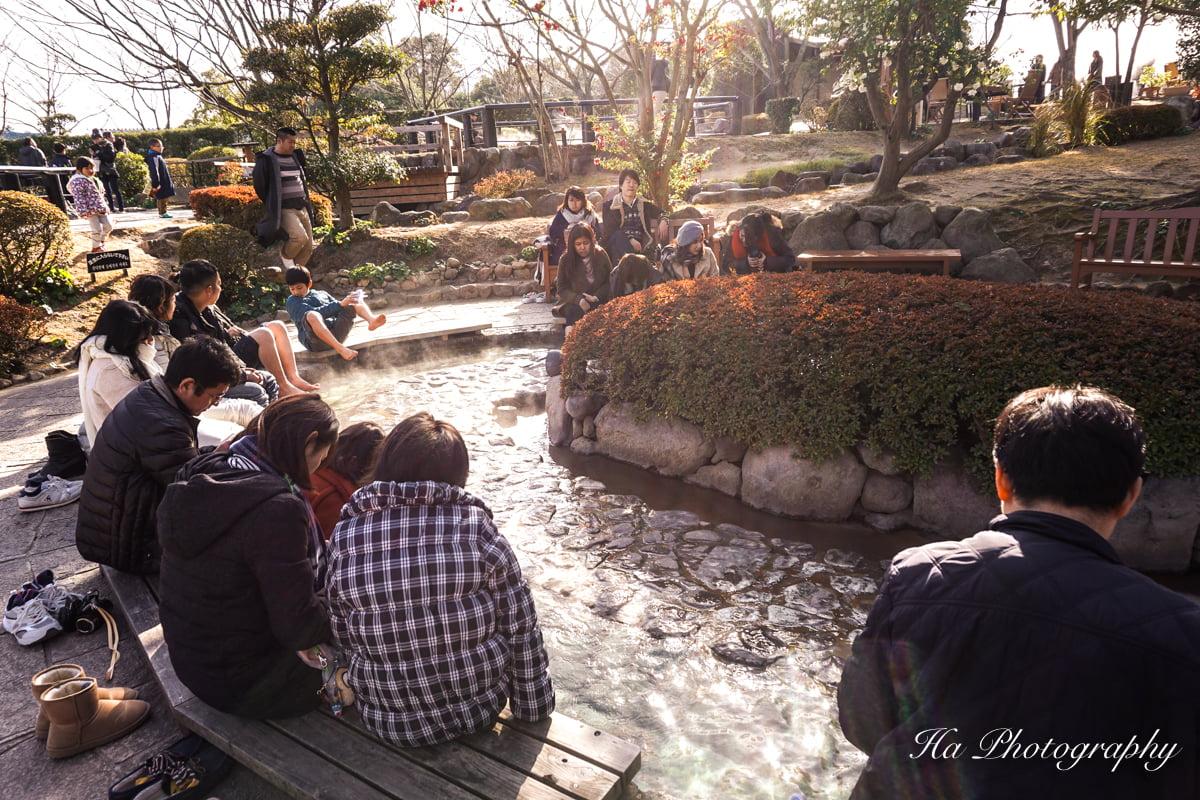 foot bath Beppu Japan