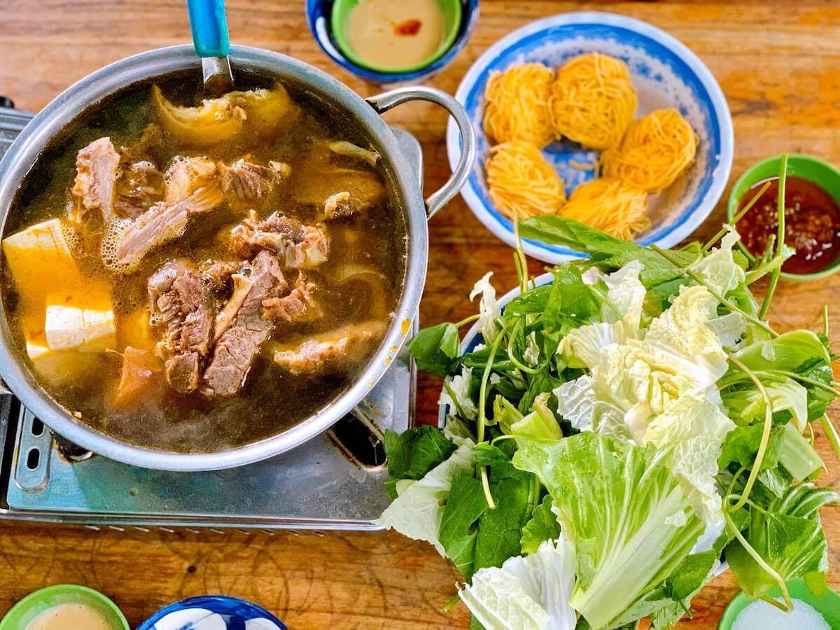 beef hotpot Da Lat food