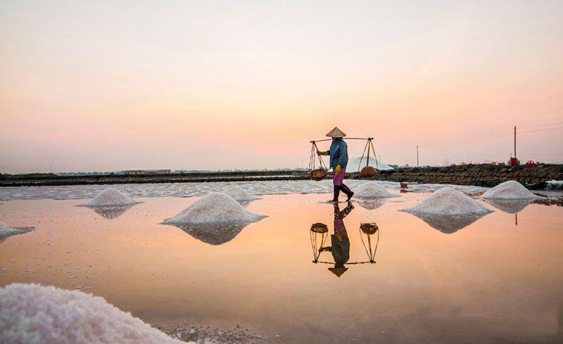 salt field Ninh Thuan Vietnam