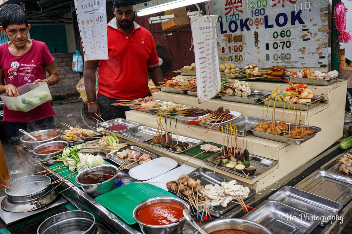 Georgetown Penang street food Malaysia