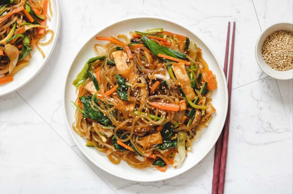 Japchae Korean food