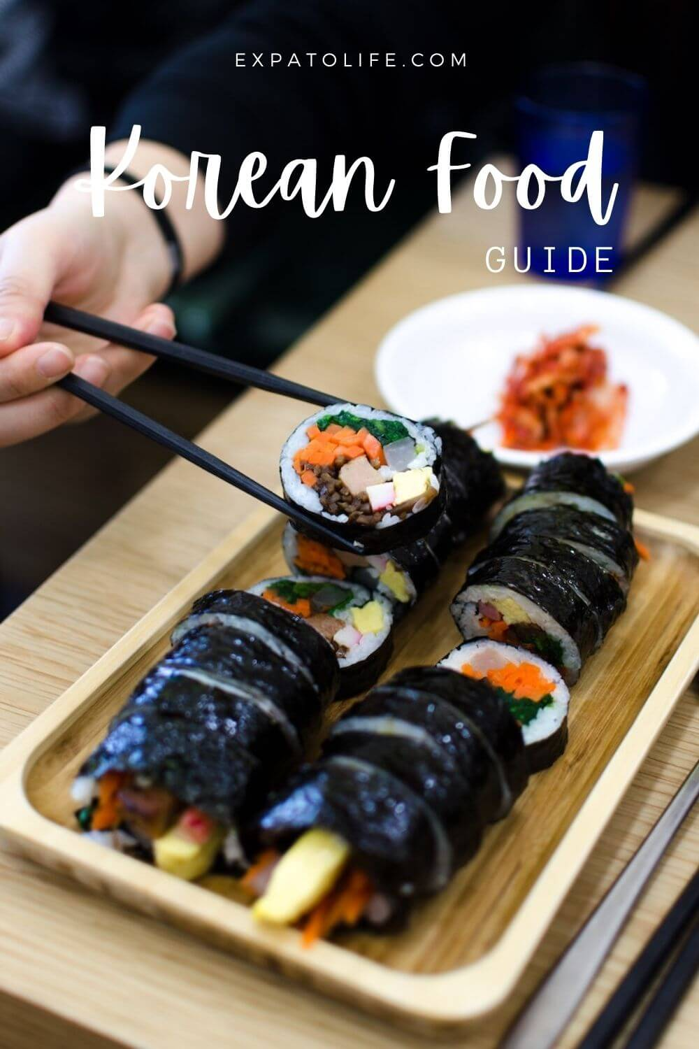 Gimbap Korean food