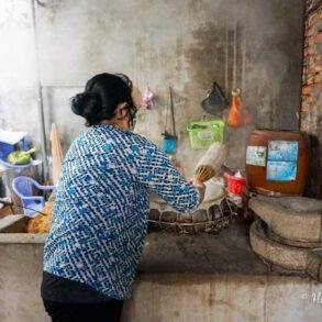 Sau Hoai rice noddle factory Can Tho Vietnam