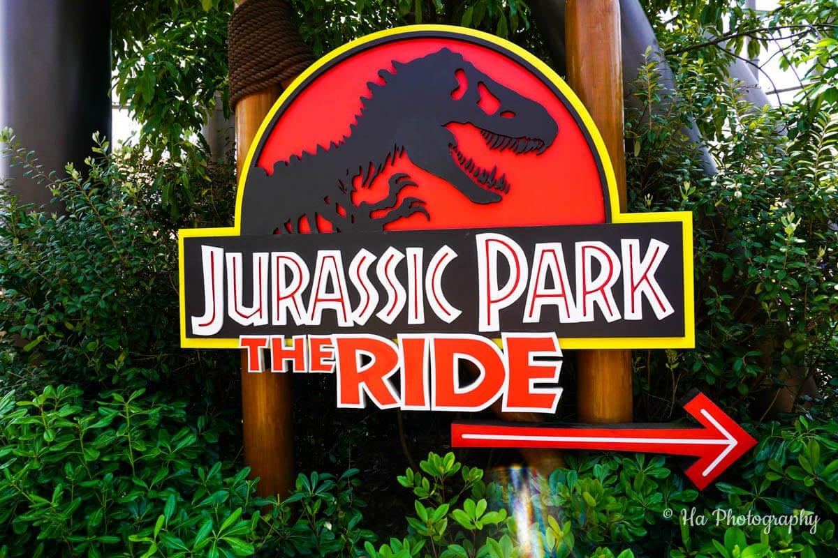 Jurassic park ride Osaka Japan