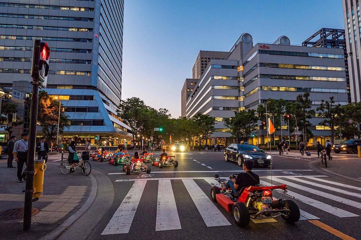 go-kart experience Osaka Japan