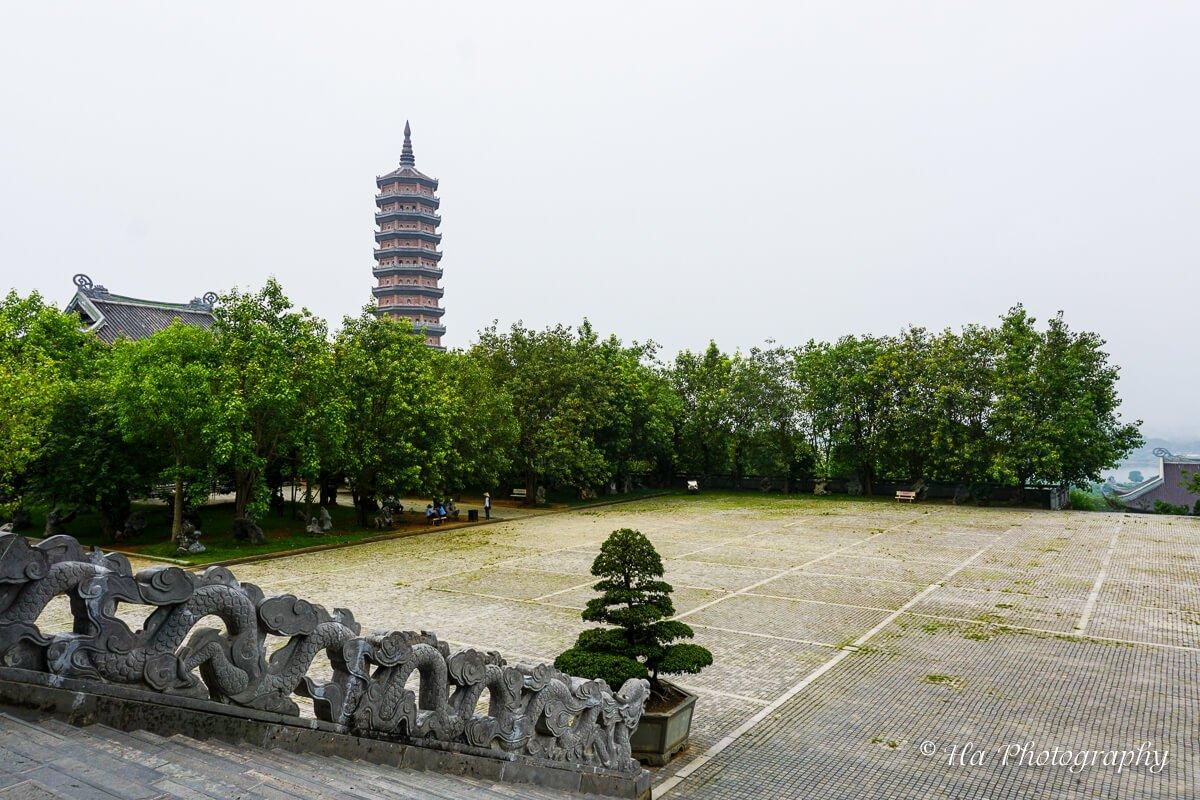 Bai Dinh temple yard Vietnam