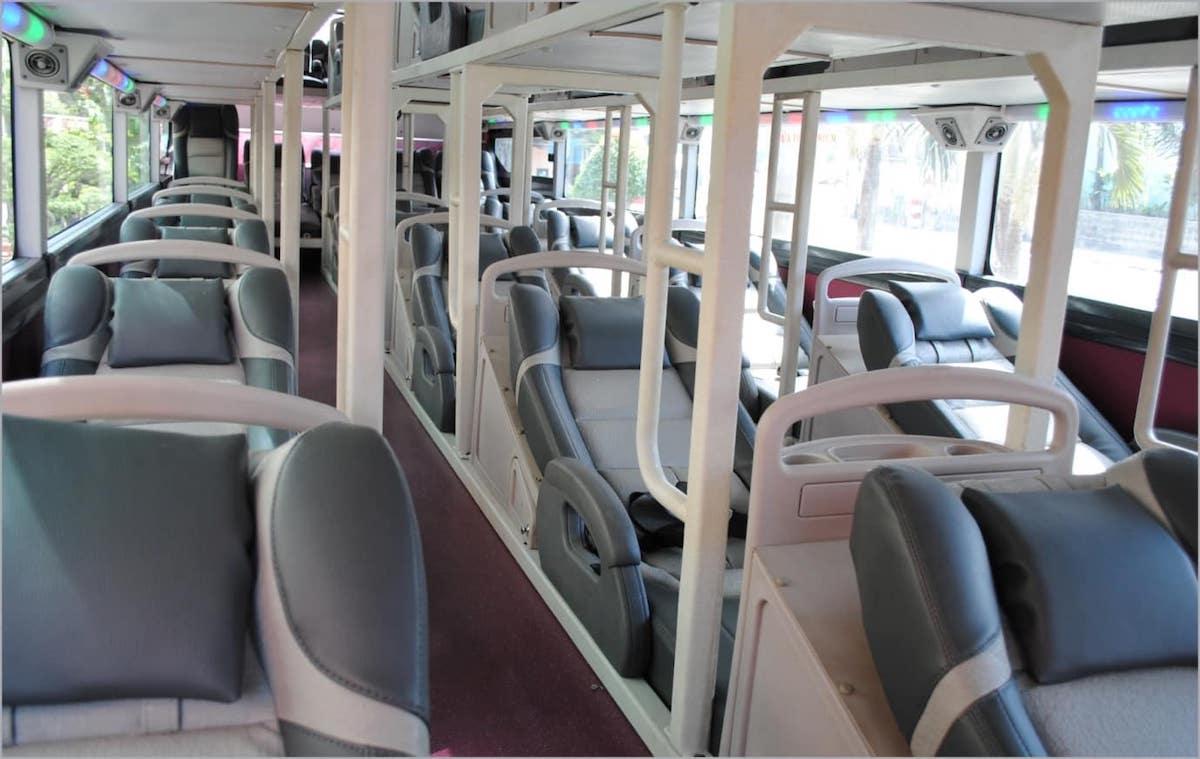 Vietnam sleeper bus 1st floor