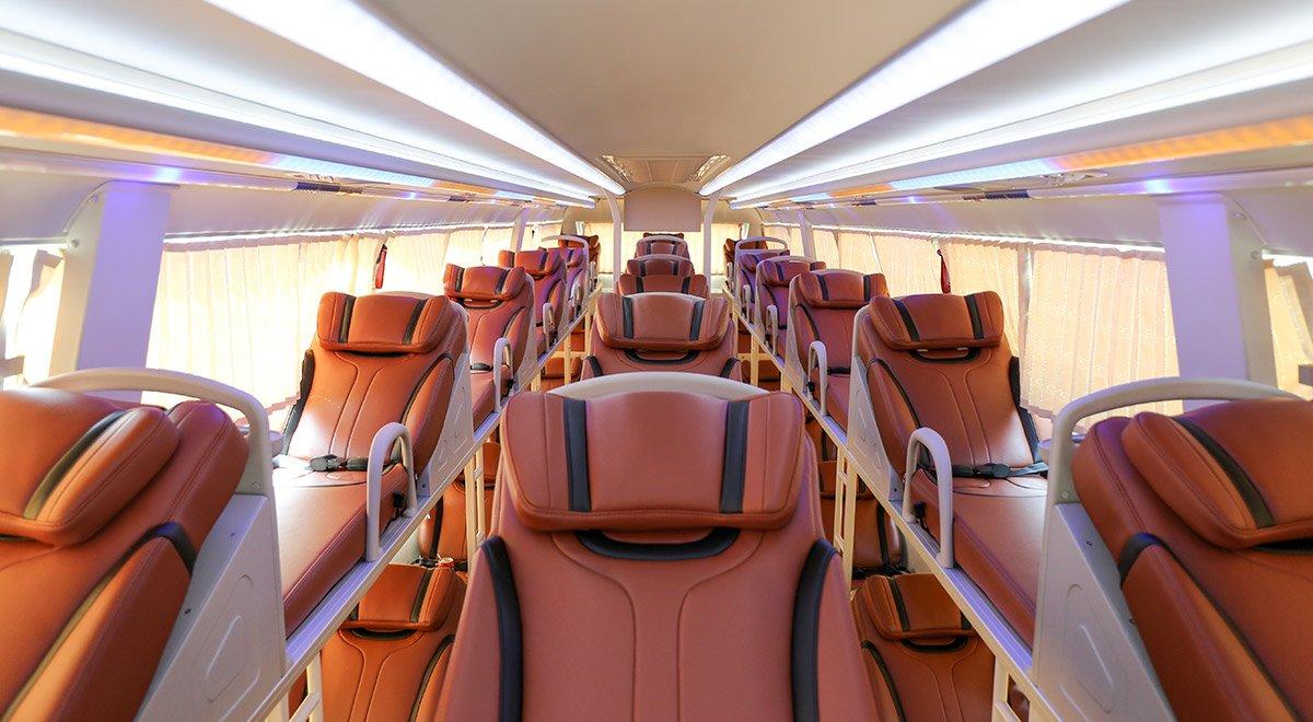 Vietnam sleeper bus seat