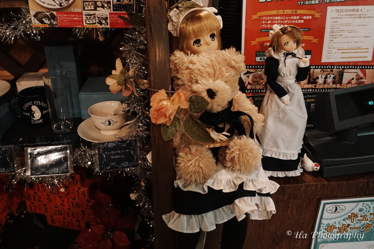 Maid cafe Tokyo Japan.