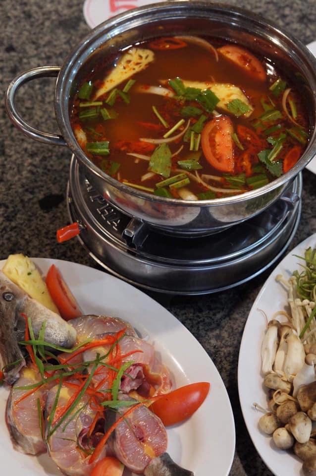 sturgeon hot pot da lat Vietnam