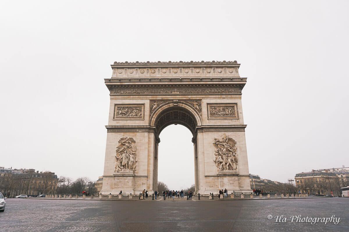 Arc de Triomphe Paris France.