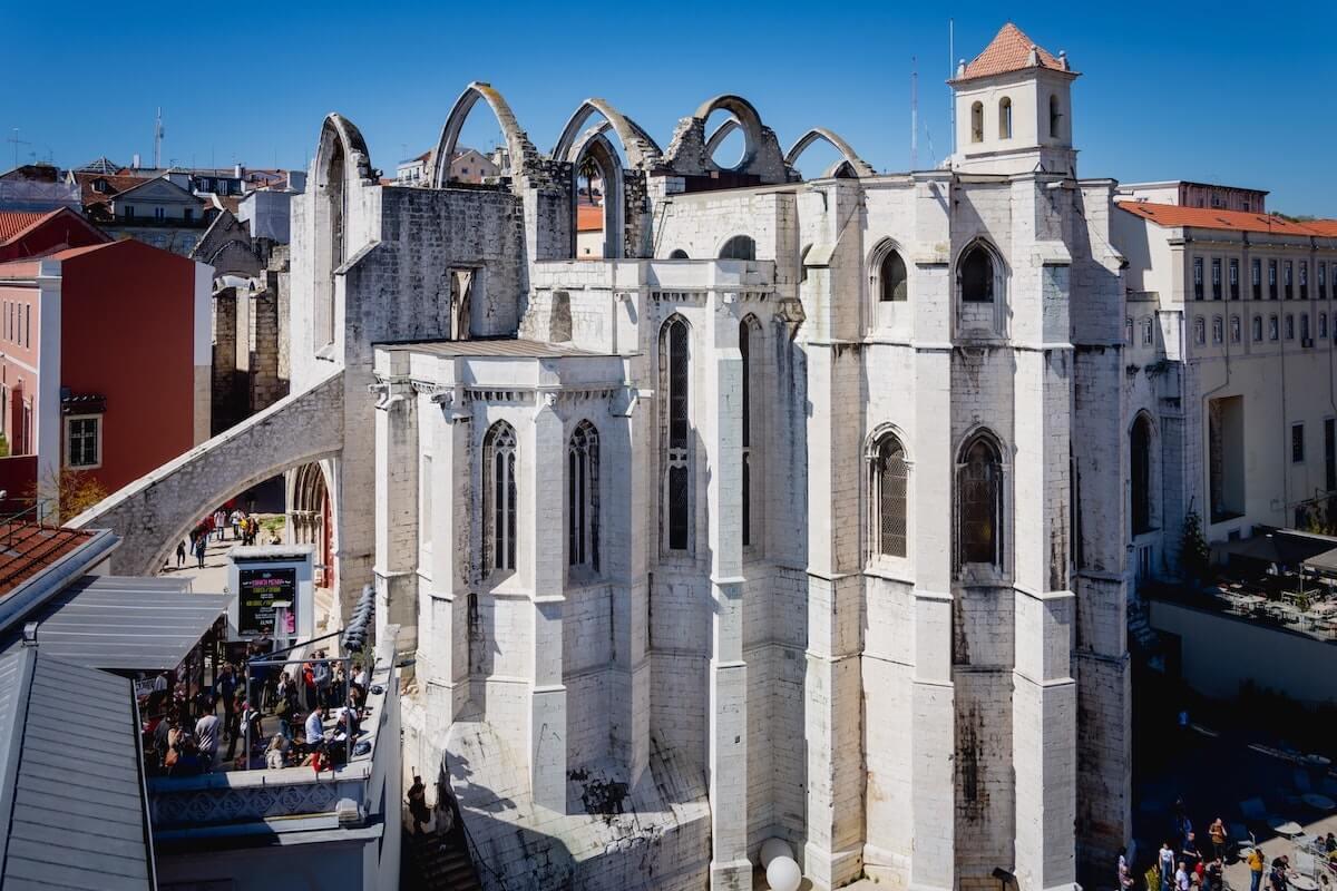 Carmo Convent ruins Lisbon Portugal.