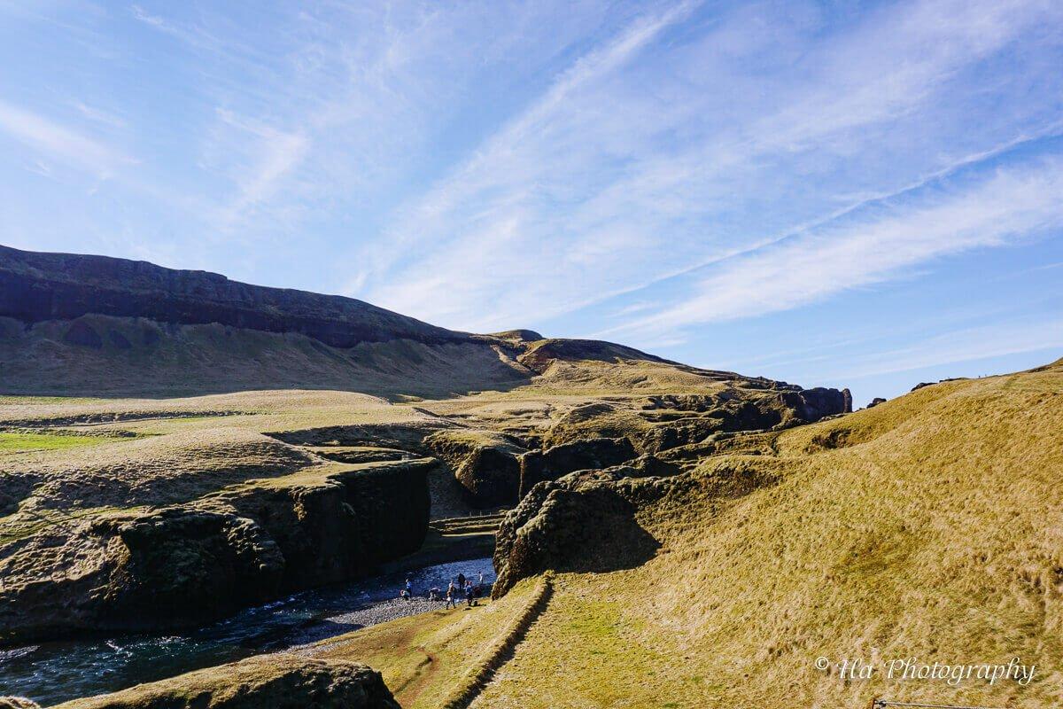 Fjaðrárgljúfur Canyon view Iceland