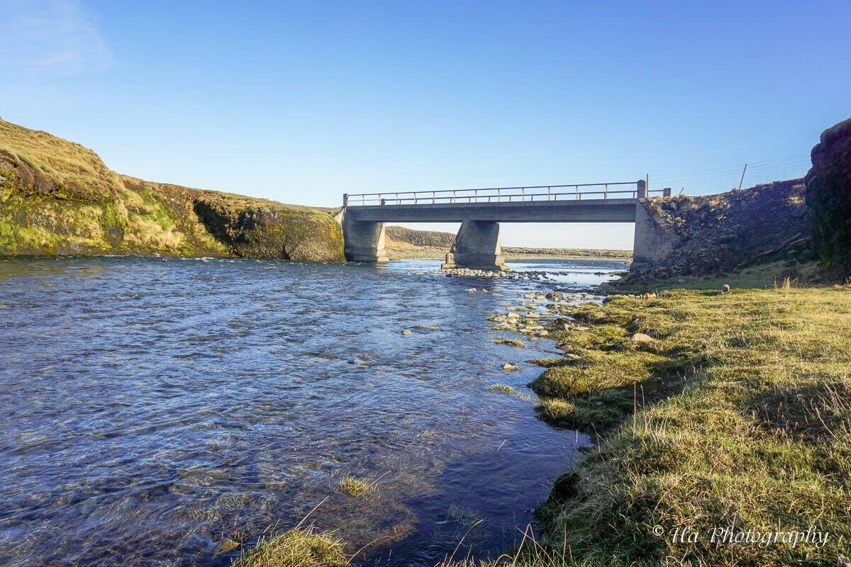 Fjadrarargljufur bridge Iceland