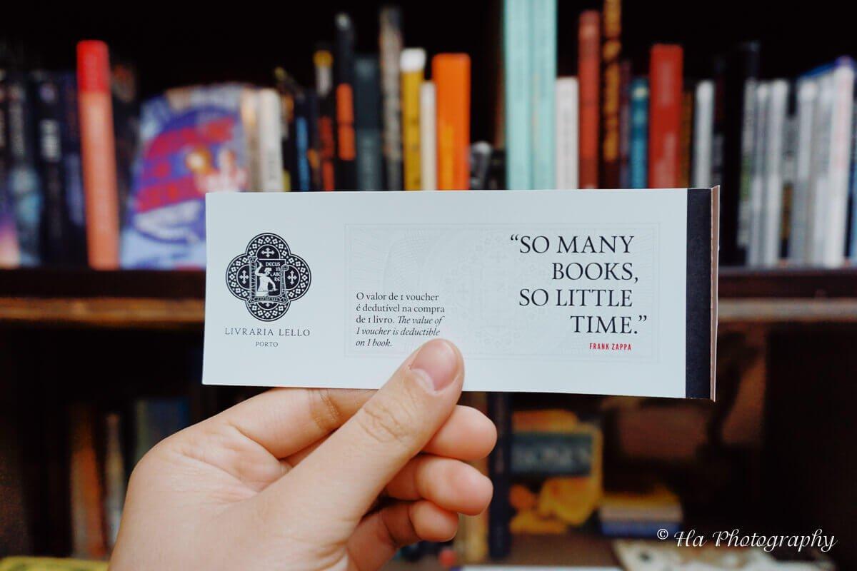 Livraria Lello voucher Portugal