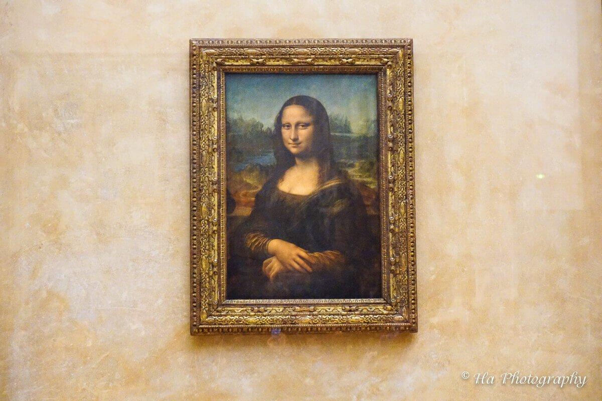 Mona Lisa painting.