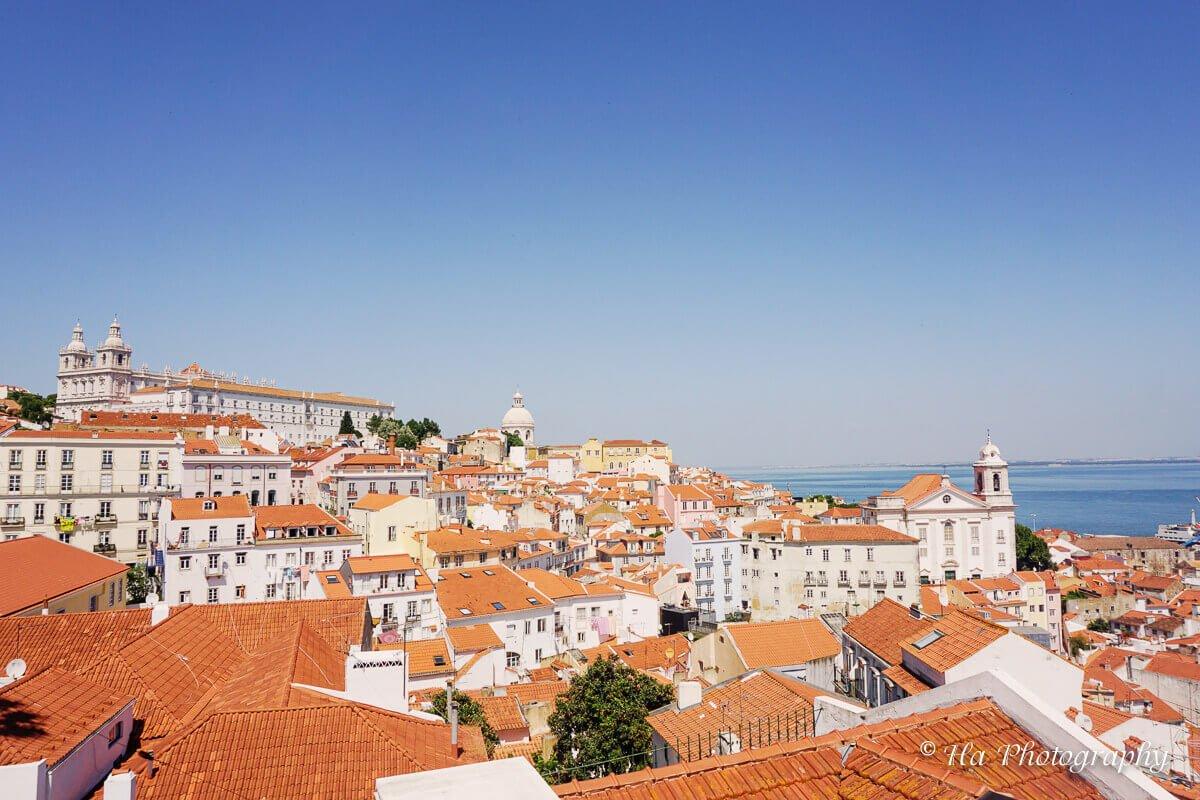 Miradouro de Santa Luzia Lisbon Portugal.