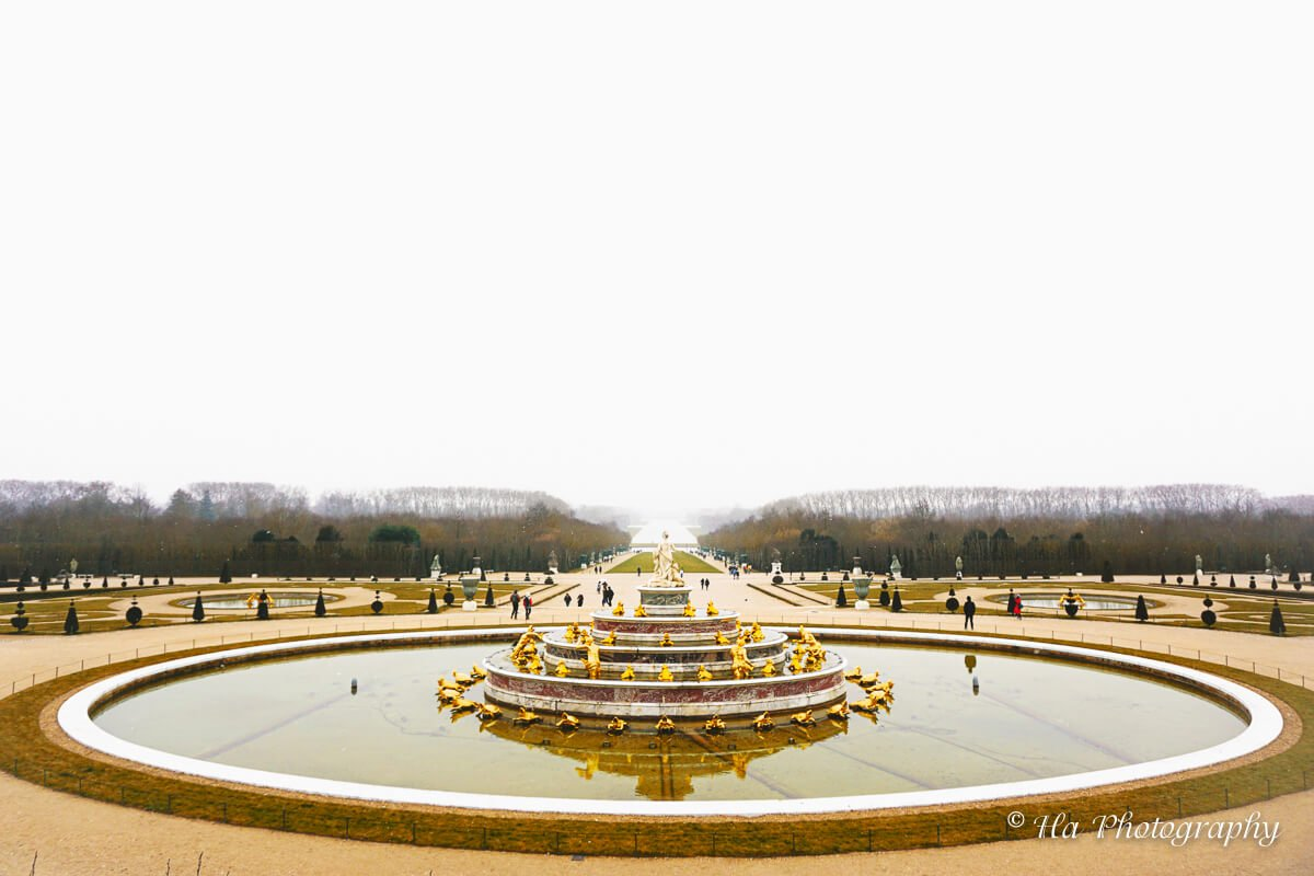 Palace Versailles fountain France.