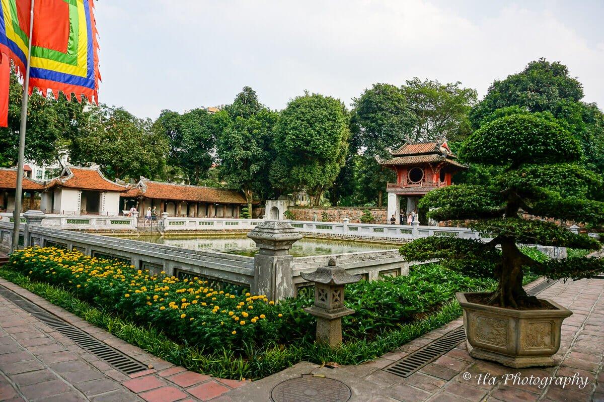 Temple Of Literature lake Hanoi Vietnam
