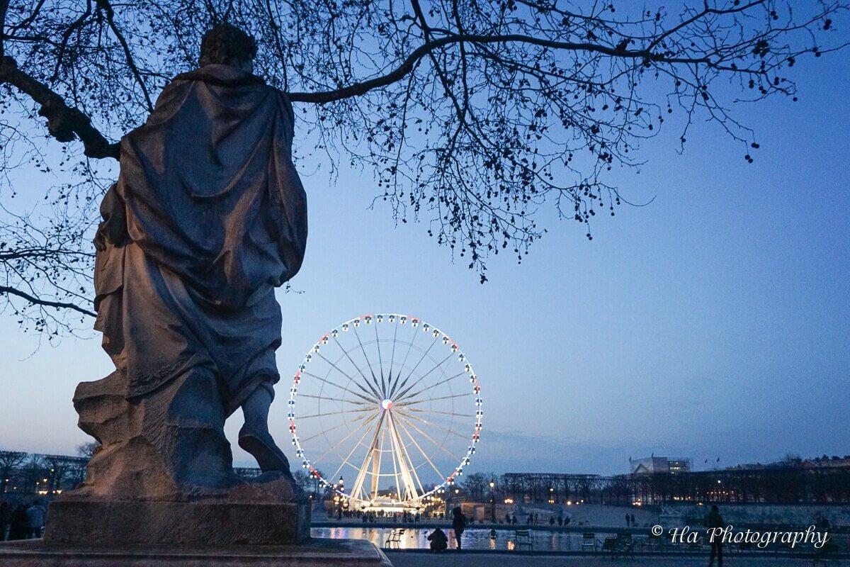 Tuileries Garden sculptures Paris.