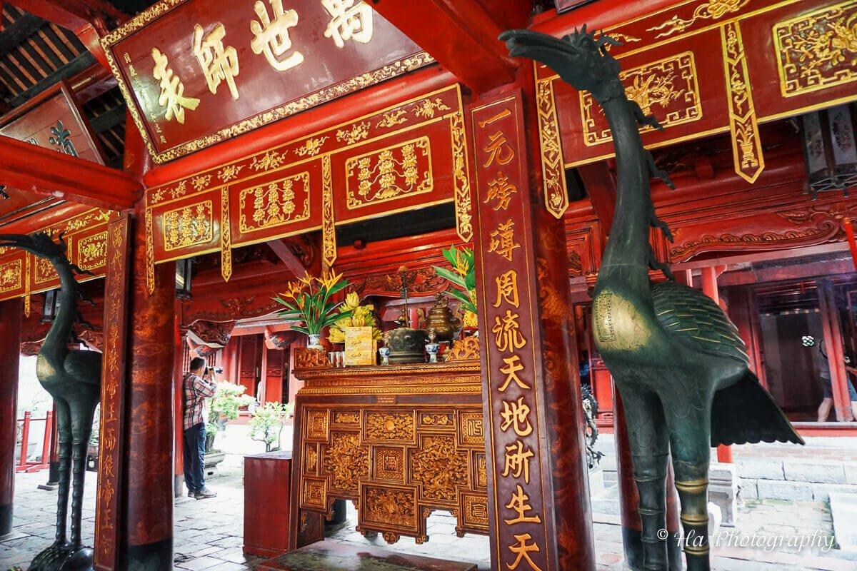 Temple Of Literature shrine Hanoi Vietnam