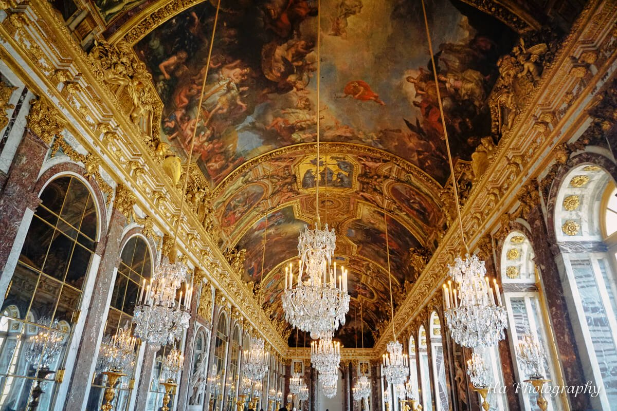 Versailles France Hall of Mirrors.
