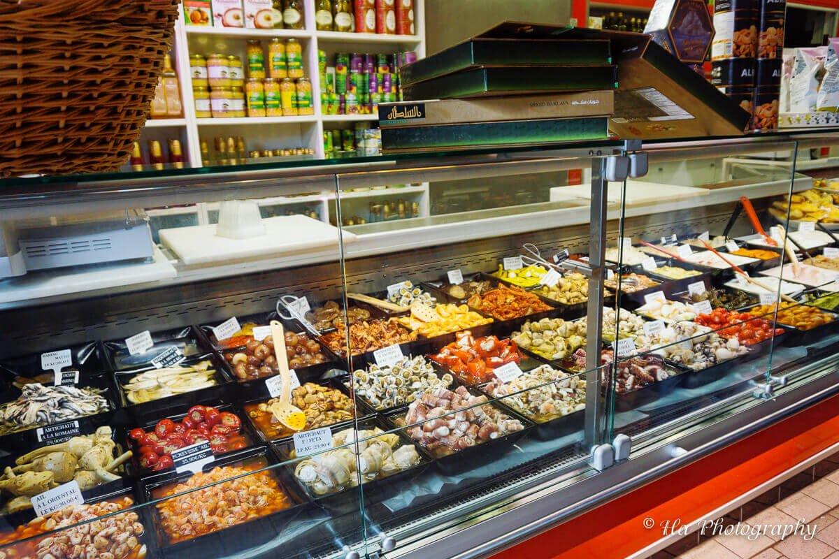 food market Versailles France.