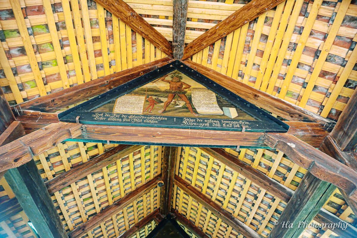Chapel bridge 1st painting Lucerne Switzerland.