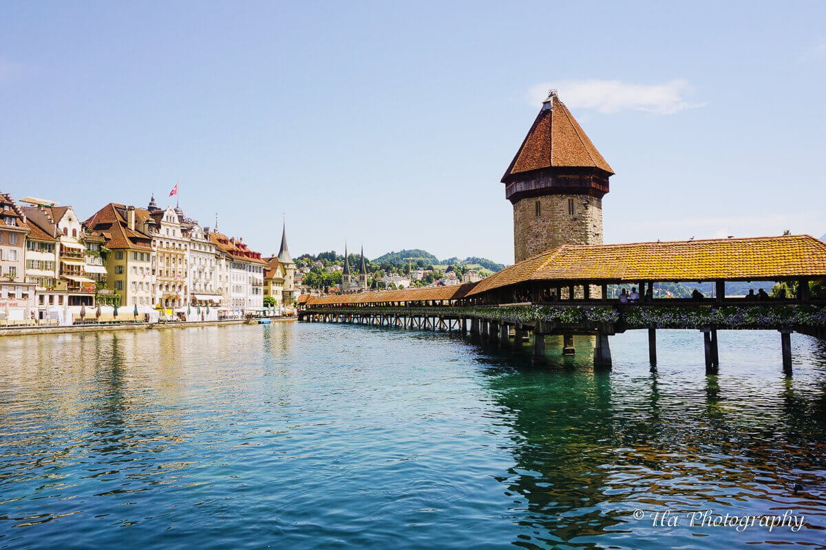 Chapel bridge Lucerne Switzerland.