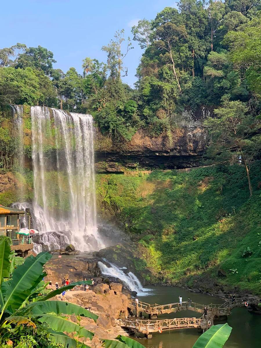 Dambri Waterfall Bao Loc Vietnam.