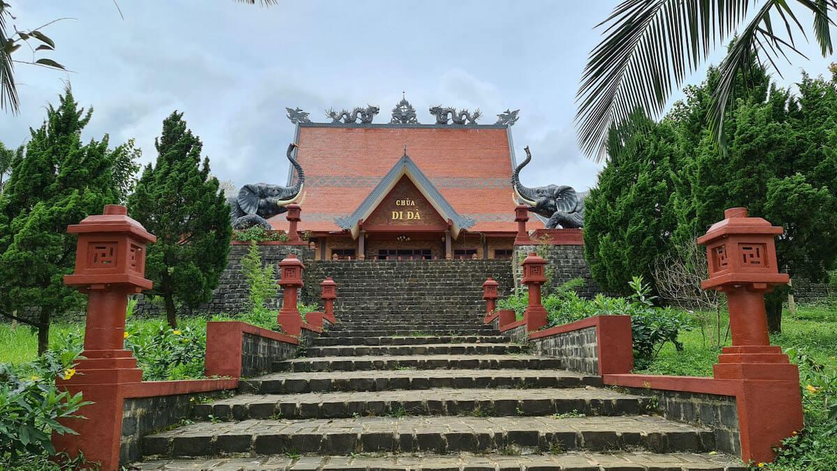 Di Da pagoda Bao Loc Vietnam.