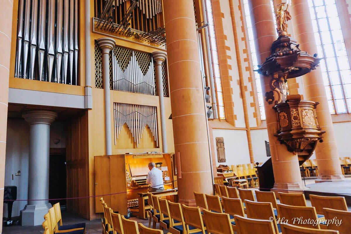 Heidelberg Heiliggeistkirche piano Germany.