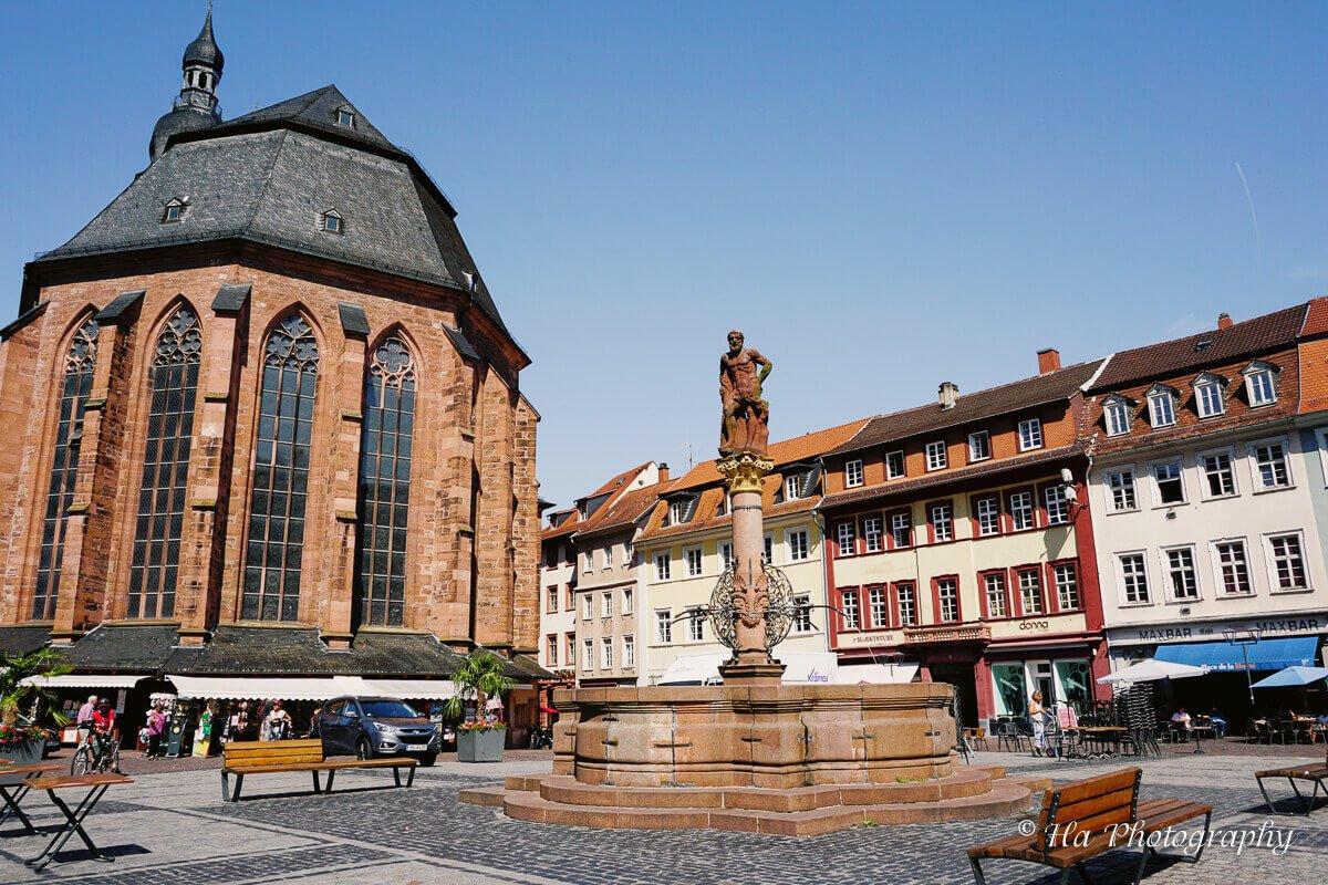 Heidelberg Marktplatz Germany.