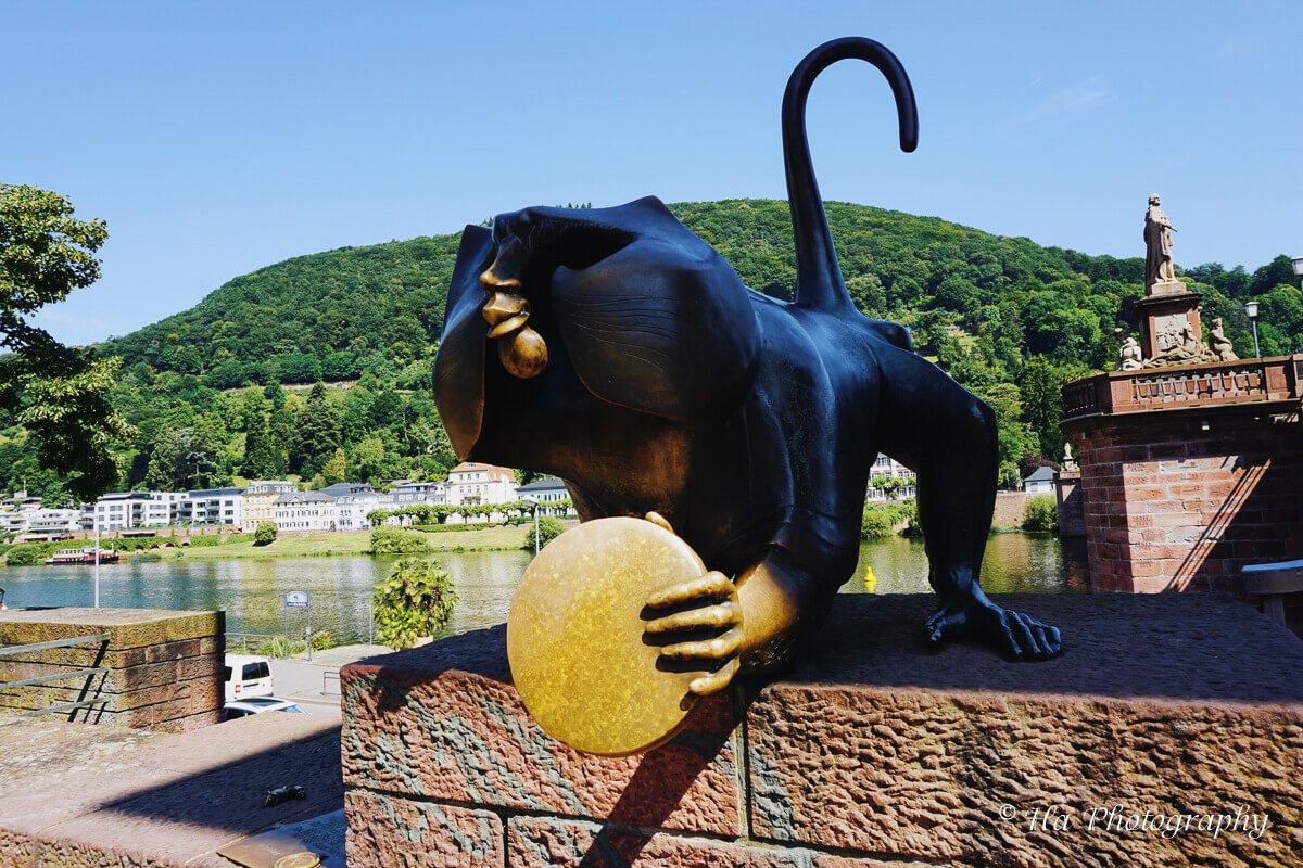 Heidelberg Old Bridge Monkey Germany.
