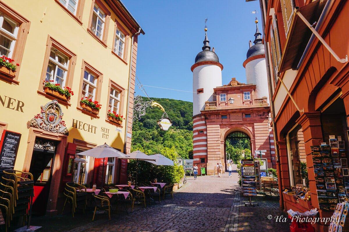 Heidelberg old bridge tower.