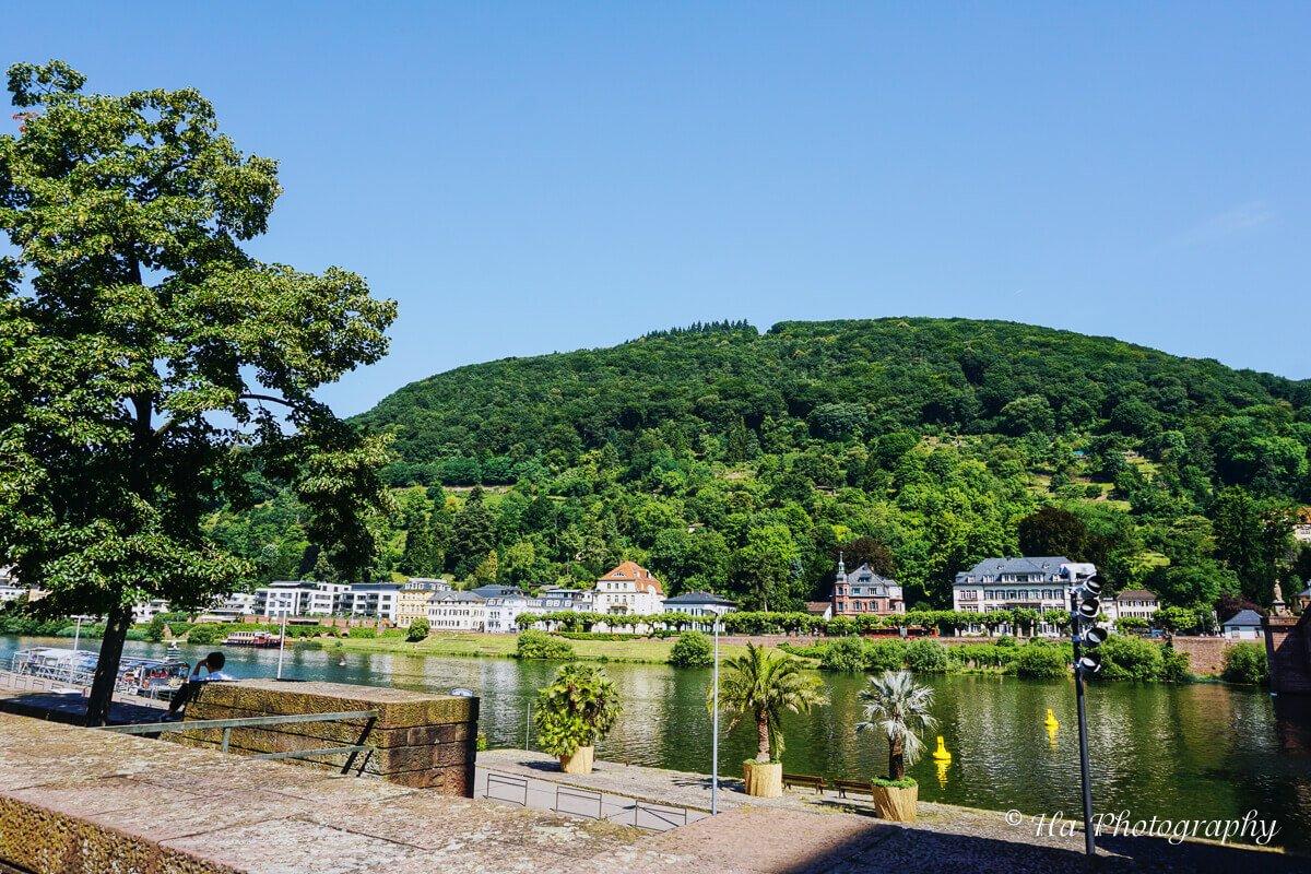 Heidelberg riverbank Germany.