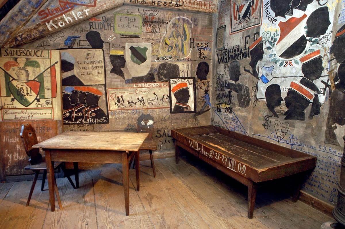 Heidelberg student prison Germany.