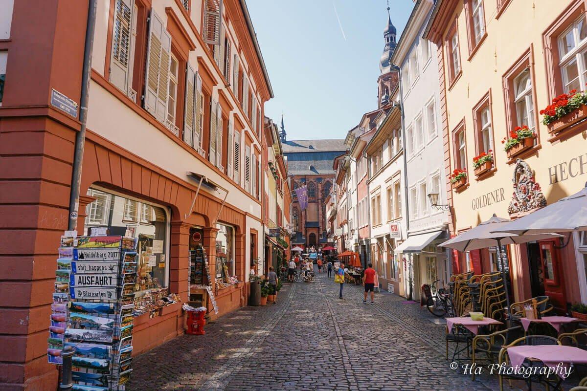 Heidelberg walking street Germany.