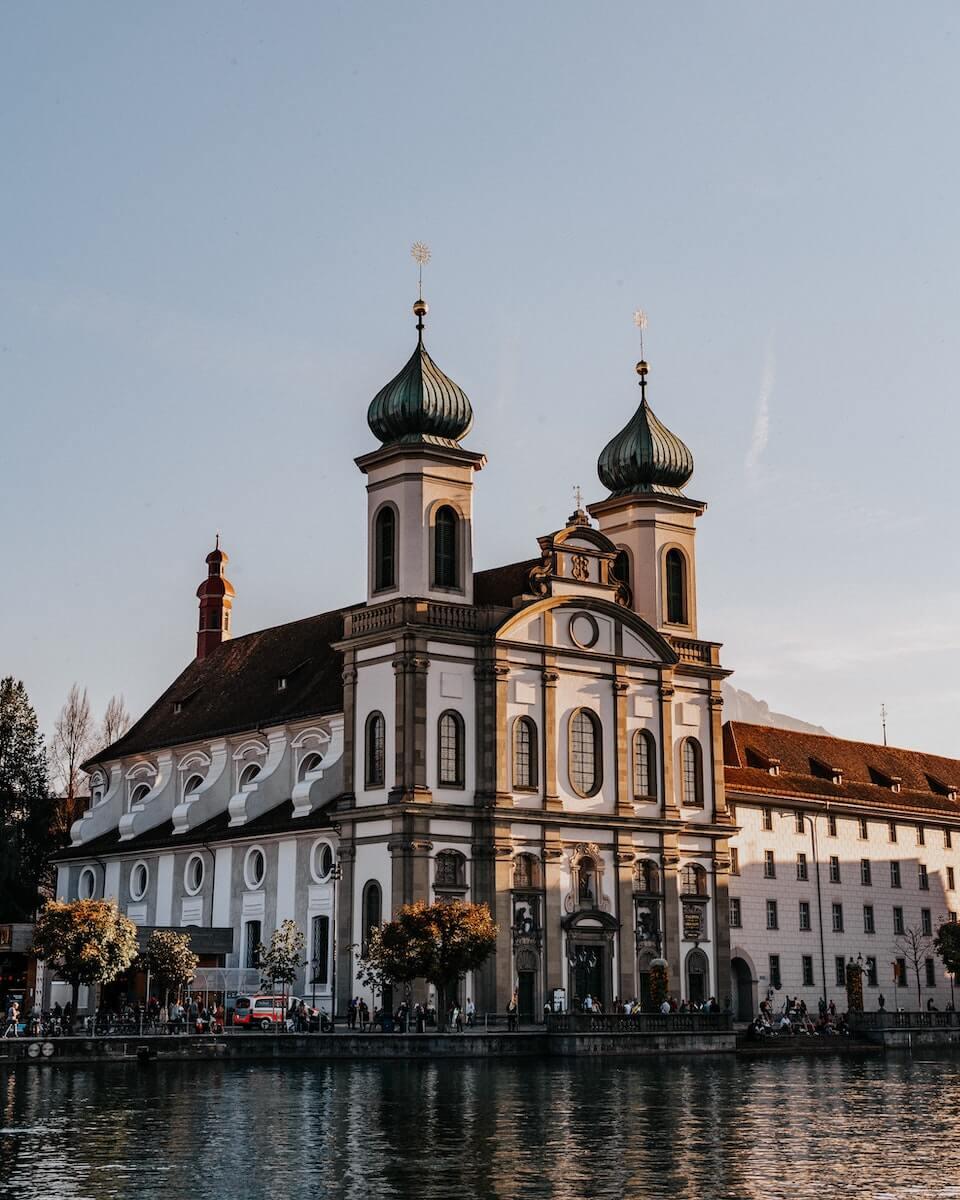 Jesuit Church Lucerne Switzerland.