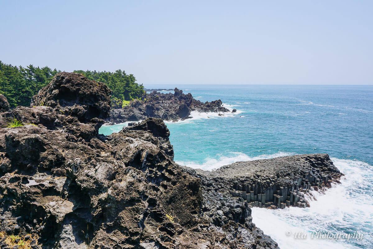 Daepo Jusangjeolli Cliff Jeju Island South Korea.