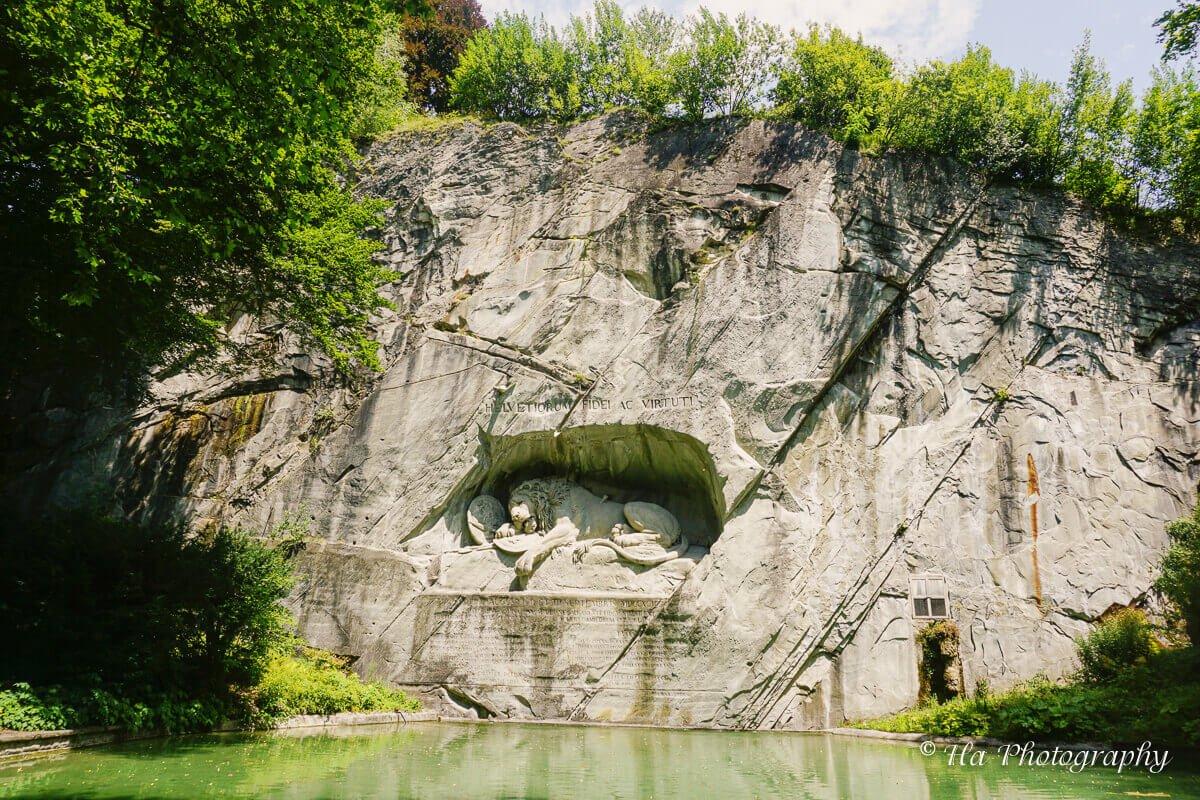 Lion Monument Lucerne Switzerland.