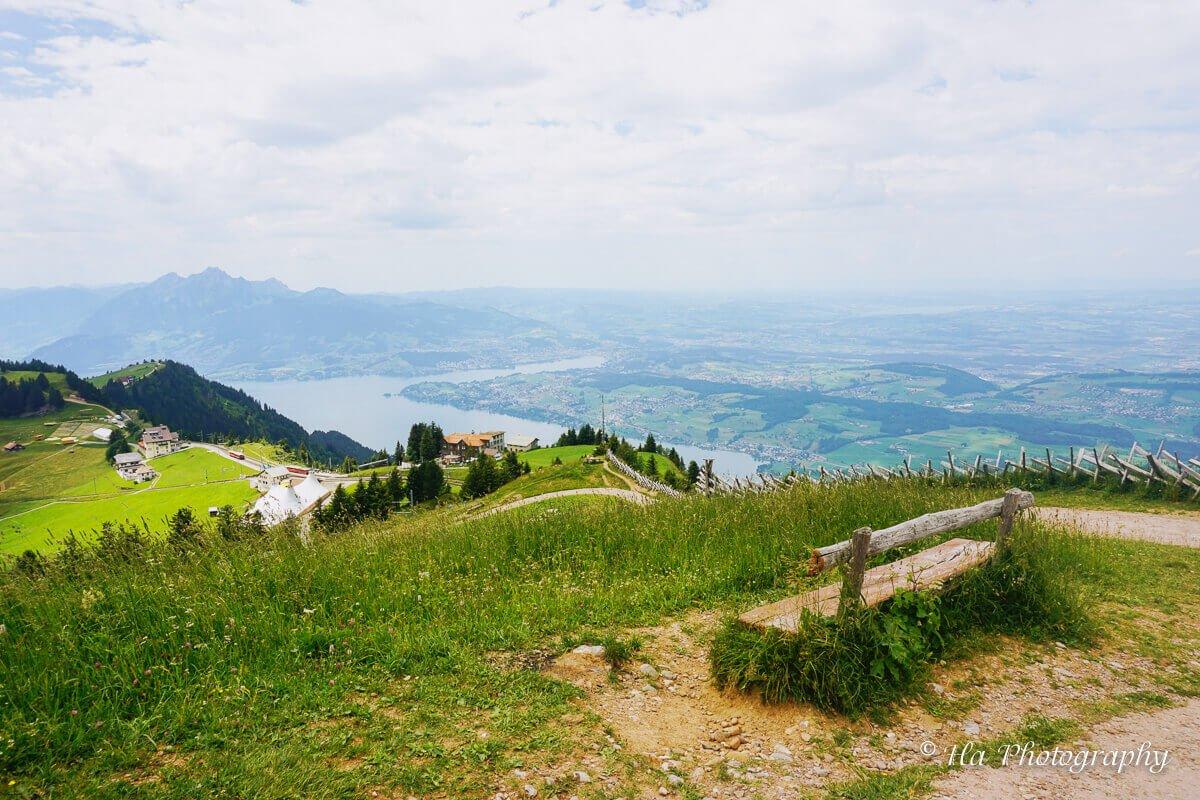 Mount Rigi bench Switzerland.