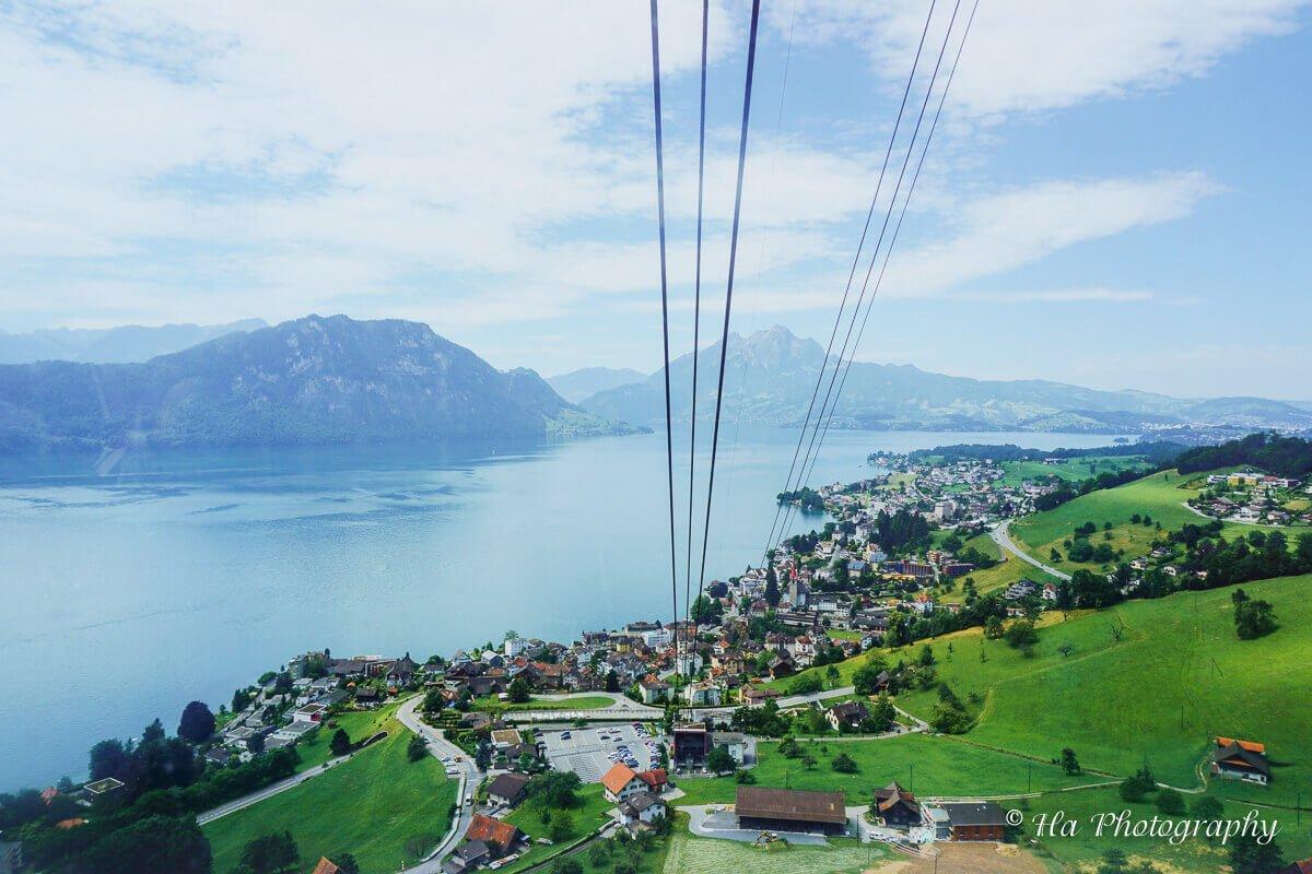 Mount Rigi cable Switzerland.
