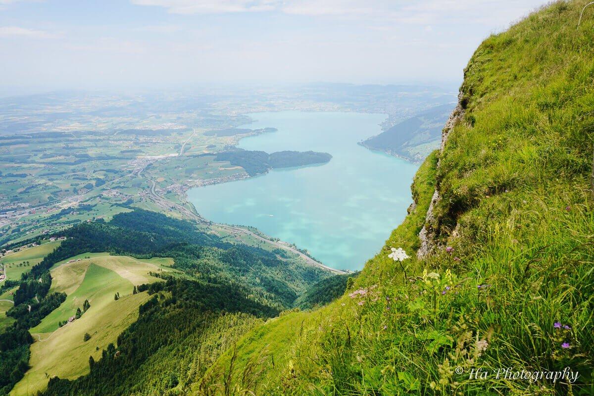 Mount Rigi cliff Switzerland.