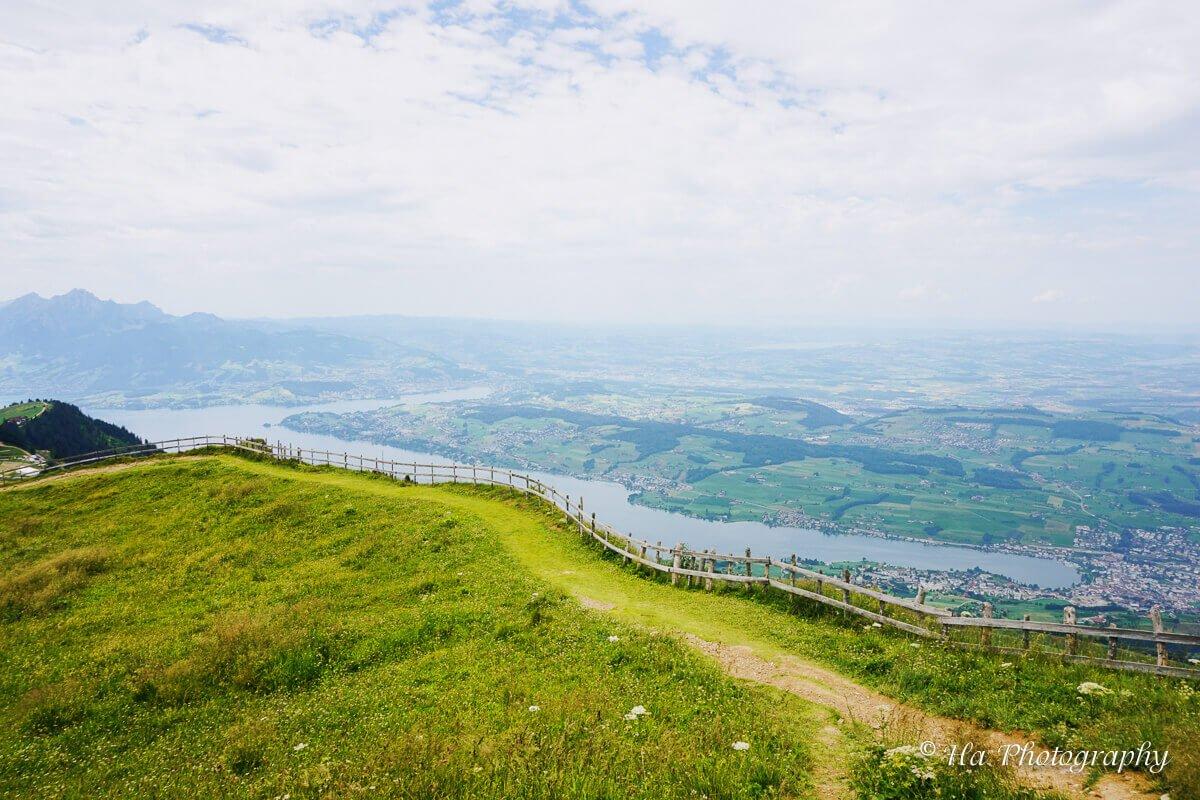 Mount Rigi hiking trail Switzerland