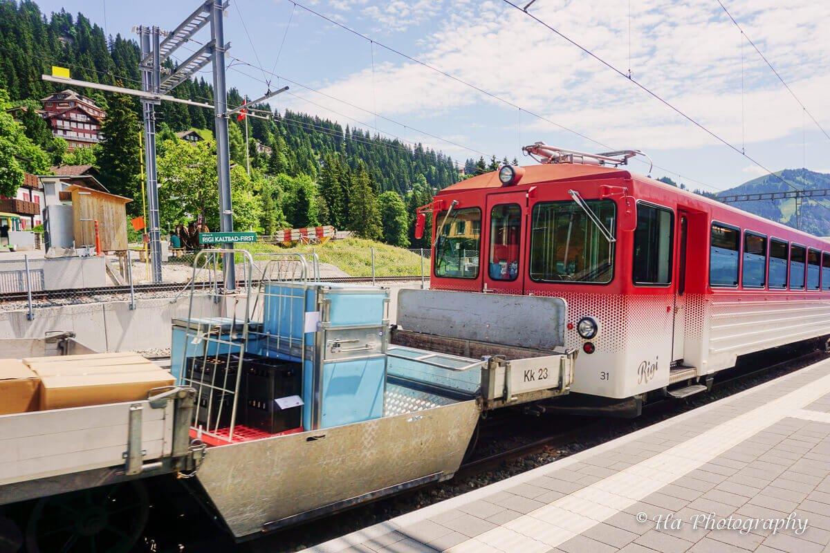 Mount Rigi train Switzerland.