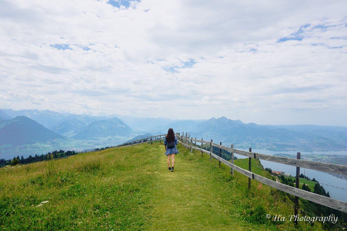 Mt Rigi hiking trail.